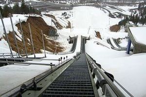 View from top of ski jump