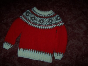 scandinavian yoke sweater