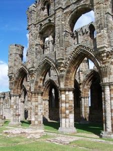 Inside Whitby Abbey