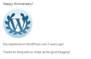 5 years WP