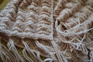Shawl in close-up