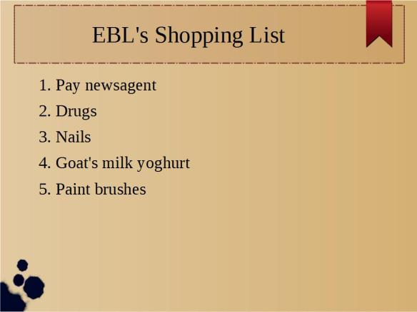 Shoppng List