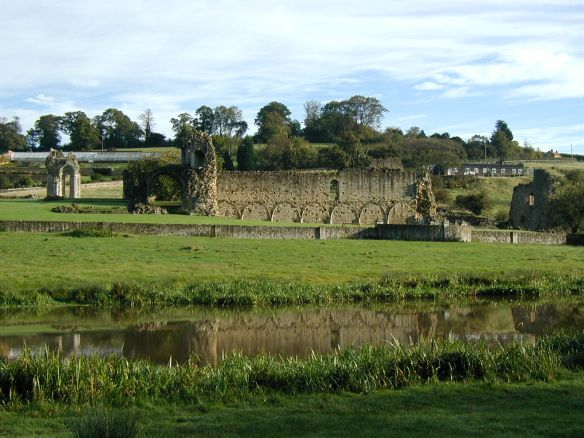 The train runs past Kirkham Abbey between York and Malton