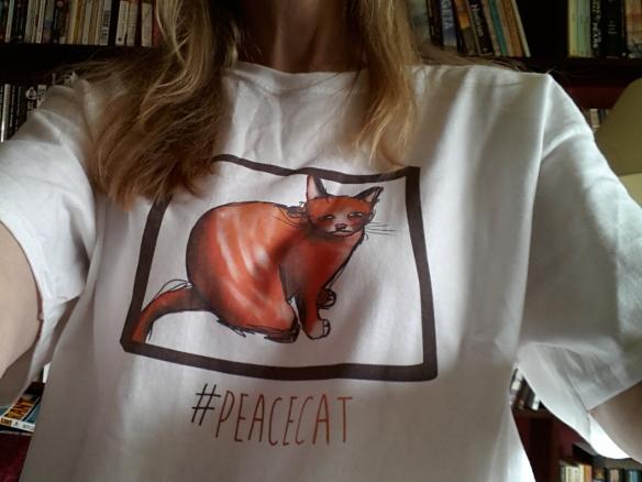 peace cat tshirt