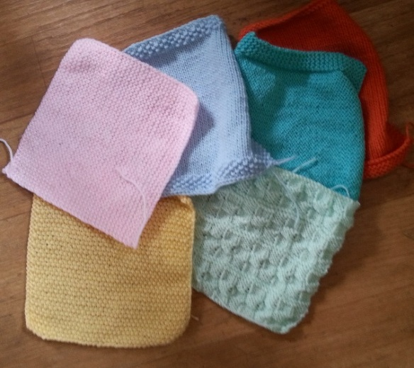 neonatal knitted squares